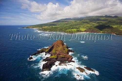 Aerial of Alau Islet, Koki Beach and Hana area, Maui, Hawaii Picture - Hawaiipictures.com