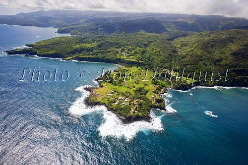 Aerial of the Keanae peninsula, Maui, Hawaii - Hawaiipictures.com