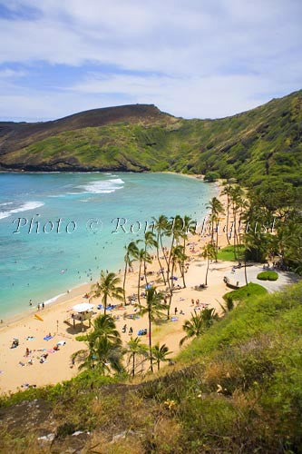 Famous snorkeling spot on Oahu, Hanauma Bay