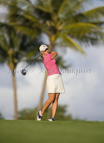 Woman golfing at Maui Country Club, Maui, Hawaii