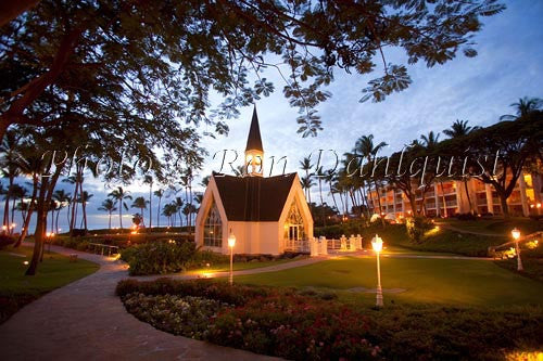 Grand Wailea Resorts Wedding Chapel by the Sea. Wailea, Maui, Hawaii