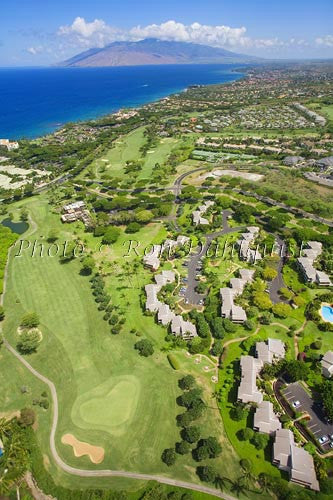 Aerial of Wailea, Maui, Hawaii Picture - Hawaiipictures.com