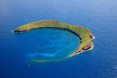 Molokaini, known for its snorkeling, Hawaii