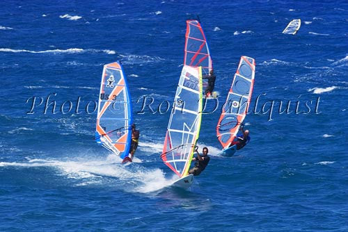 Windsurfers at Hookipa, Maui, Hawaii