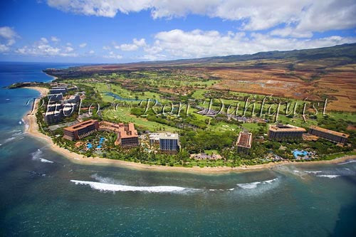 Aerial of Kaanapali Beach and Resort, Maui, Hawaii Picture - Hawaiipictures.com