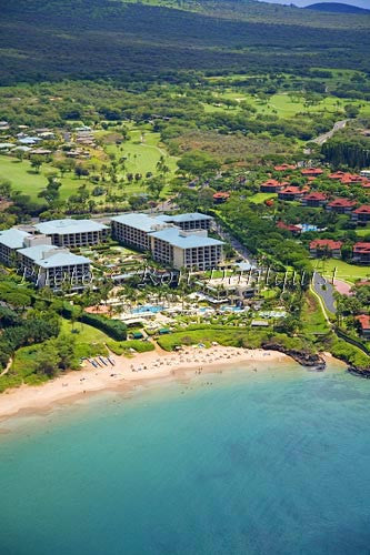 Aerials of Four Seasons Resort on Wailea Beach, Maui, Hawaii Picture - Hawaiipictures.com
