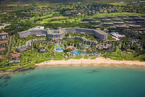 Aerial of Grand Wailea Resort, Maui, Hawaii Picture - Hawaiipictures.com