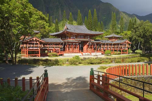 Byodo-In Temple, Valley of the Temples, Ahuimanu Valley, Kaneohe, Oahu, HI