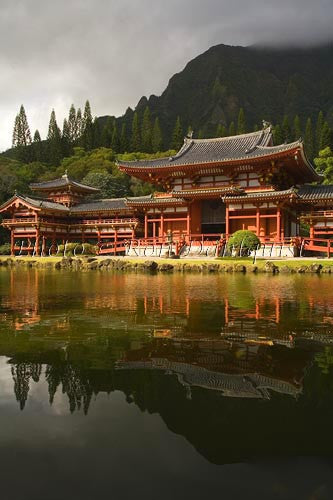Byodo-In Temple, Valley of the Temples, Ahuimanu Valley, Kaneohe, Oahu, HI Picture - Hawaiipictures.com
