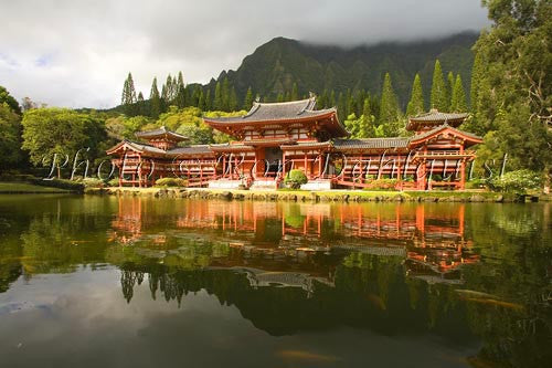 Byodo-In Temple, Valley of the Temples, Ahuimanu Valley, Kaneohe, Oahu, HI Photo