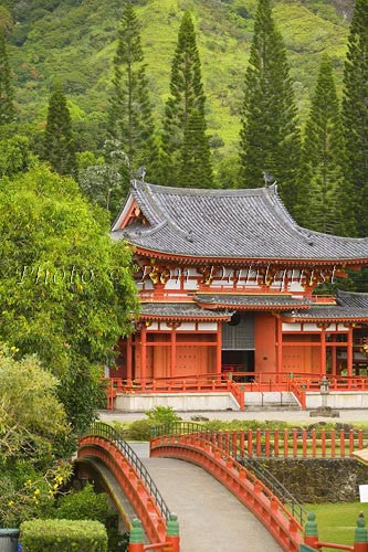 Byodo-In Temple, Valley of the Temples, Ahuimanu Valley, Kaneohe, Oahu, HI Stock Photo