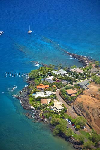 Aerial of area known as Turtle Town near Makena Landing, Maui, Hawaii - Hawaiipictures.com
