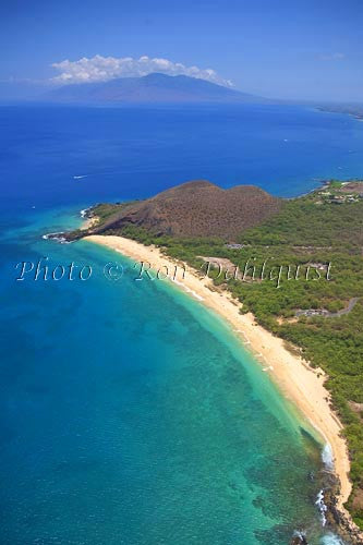 Aerial of Big Beach (Oneloa), Makena, Maui, Hawaii - Hawaiipictures.com