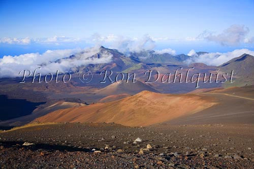 View of Haleakala Crater, Maui, Hawaii Picture Photo Stock Photo