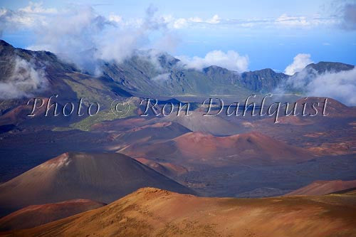 View of Haleakala Crater, Maui, Hawaii Picture Stock Photo