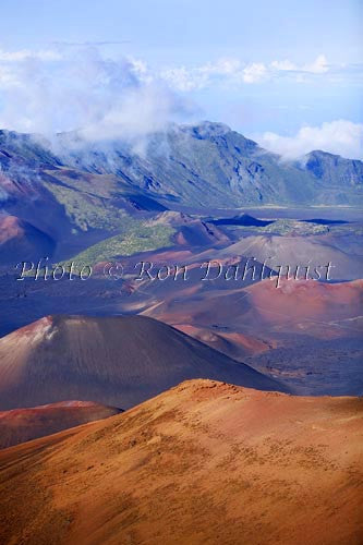 View of Haleakala Crater, Maui, Hawaii Picture Photo