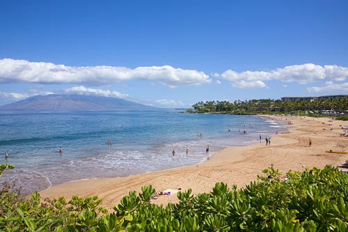 Wailea Beach. (Fronts Grand Wailea Resort and Four Seasons) Maui, Hawaii - Hawaiipictures.com