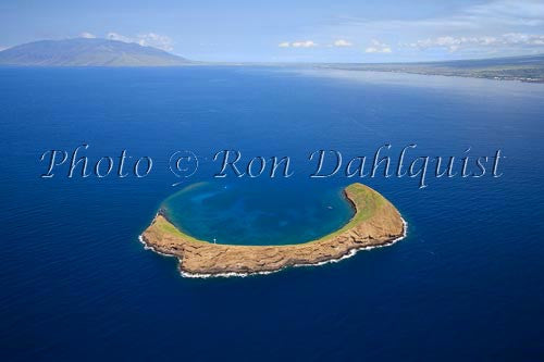 Aerial of Molokaini, Maui, Hawaii Picture Photo - Hawaiipictures.com