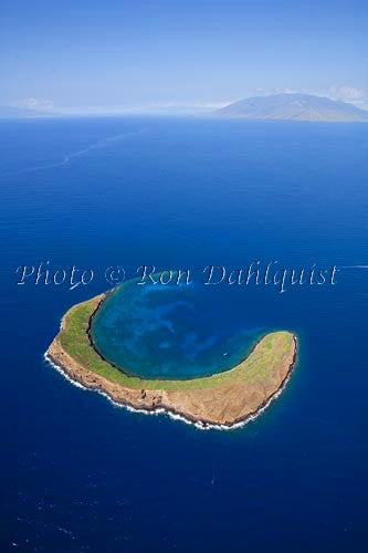 Aerial of Molokaini, Maui, Hawaii Picture Photo Stock Photo - Hawaiipictures.com