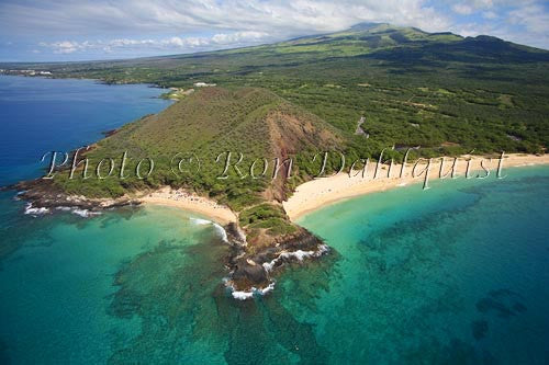 Aerial of Big Beach and Little Beach, Makena, Maui, Hawaii Photo - Hawaiipictures.com