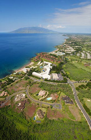 Aerial of Kea Lanai Resort and other Wailea properties, Maui, Hawaii - Hawaiipictures.com