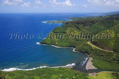Aerial of the road to Hana, Maui, Hawaii Picture - Hawaiipictures.com