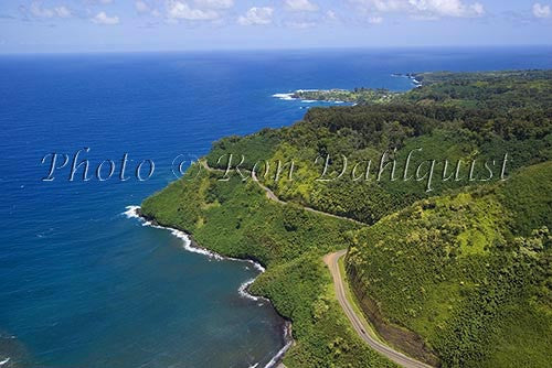 Aerial of the road to Hana, Maui, Hawaii - Hawaiipictures.com