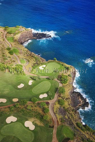 Aerial of The Challenge at Manele Golf Course, Lanai, Hawaii Picture - Hawaiipictures.com