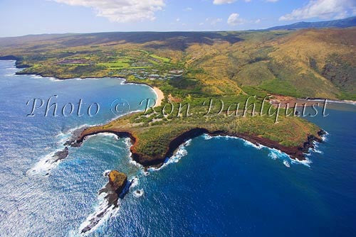 Aerial of The Challenge at Manele Golf Course, Lanai, Hawaii Photo - Hawaiipictures.com
