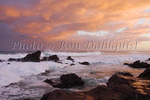 Sunrise at Hookipa, north shore of Maui, Hawaii Picture