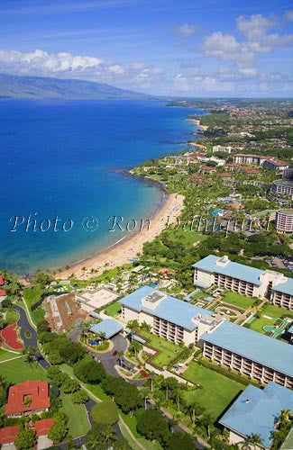 Aerials of Four Seasons Resort on Wailea Beach, Maui, Hawaii - Hawaiipictures.com