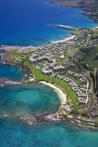 Aerial of Kapalua Bay and The Residences at The Ritz-Carlton, Maui, Hawaii Picture - Hawaiipictures.com
