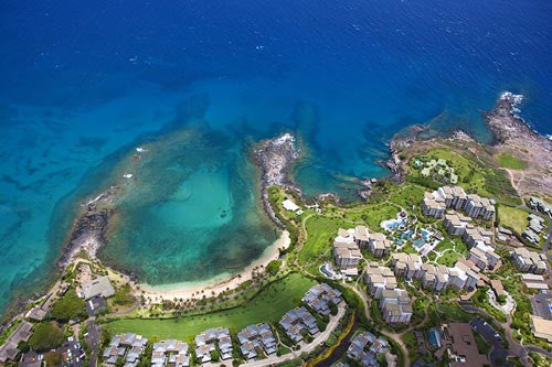 Aerial of Kapalua Bay and The Residences at The Ritz-Carlton, Maui, Hawaii - Hawaiipictures.com