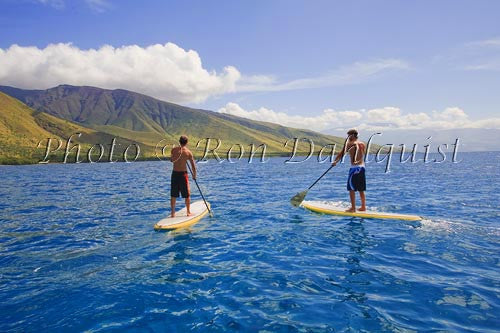 Stand-up paddling on Trilogy Excursions Ultimate Adventure, Maui, Hawaii