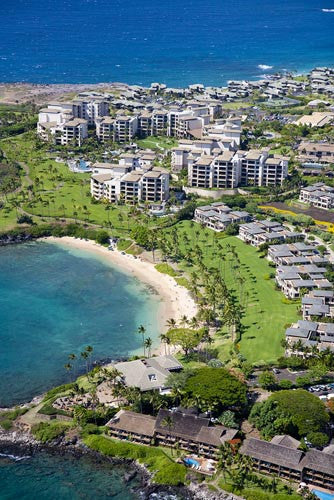 Aerial of Kapalua Bay and The Residences at The Ritz-Carlton, Maui, Hawaii Picture Photo - Hawaiipictures.com
