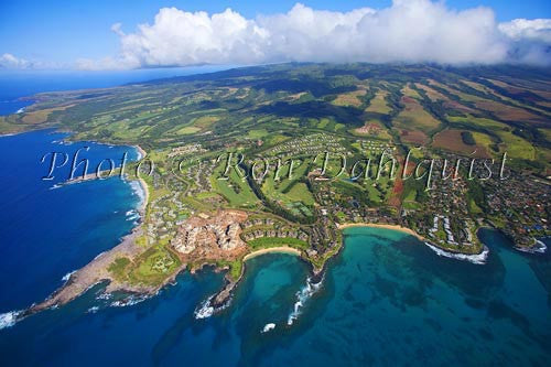 Aerial of Kapalua, Maui, Hawaii - Hawaiipictures.com