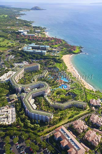Aerial of Grand Wailea Resort and Four Seasons, Wailea, Maui, Hawaii - Hawaiipictures.com