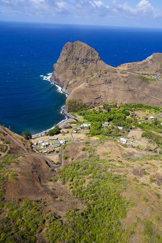 Kahakuloa Head and Kahakuloa town, Maui, Hawaii Picture