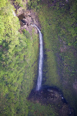 Aerial of Waterfall in West Maui, Hawaii - Hawaiipictures.com