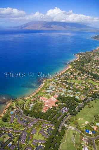 Aerial of Wailea coastline, Wailea, Maui, Hawaii Picture - Hawaiipictures.com