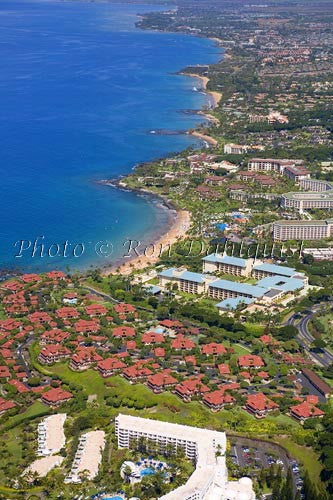 Aerial of Wailea coastline, Wailea, Maui, Hawaii Photo - Hawaiipictures.com