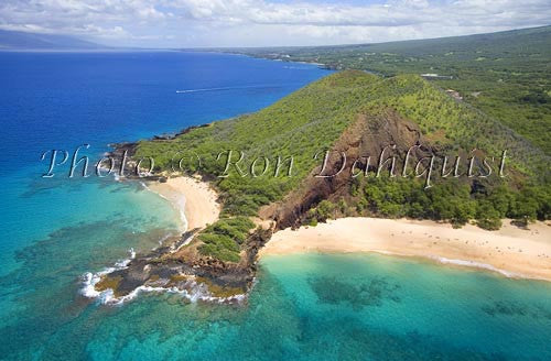 Aerial of Big Beach and Little Beach, Maui, Hawaii - Hawaiipictures.com