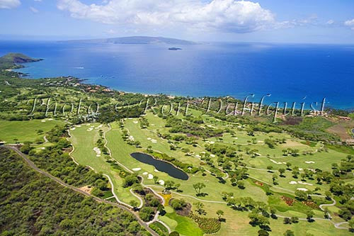 Aerial view of Wailea golf courses, Maui, Hawaii - Hawaiipictures.com