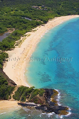 Aerial of Big Beach, Oneloa, Makena, Maui, Hawaii - Hawaiipictures.com