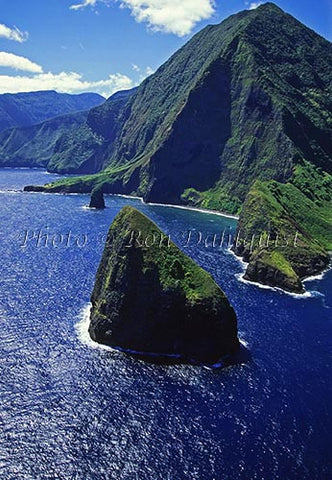 Aerial view of cliffs on north shore of Molokai, Hawaii Photo - Hawaiipictures.com