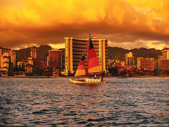 Waikiki Sunset Cruise Picture - Hawaiipictures.com