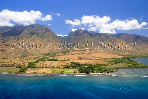 Aerial of Olowalu and West Maui Mountains, Maui, Hawaii Picture - Hawaiipictures.com