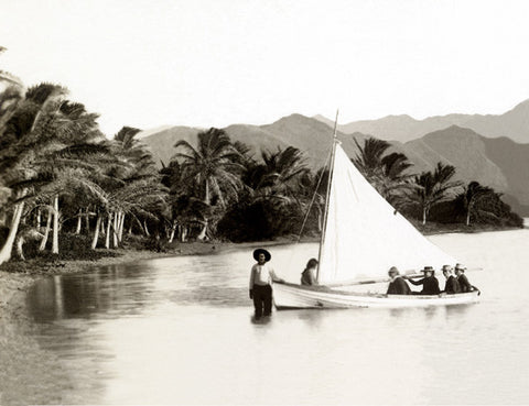 Picture Of Sailboat At Coconut Island In Kaneohe Bay