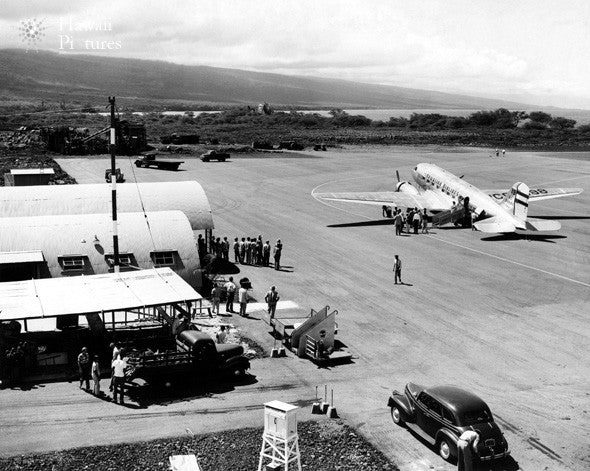 Old Picture Of Kona Airport