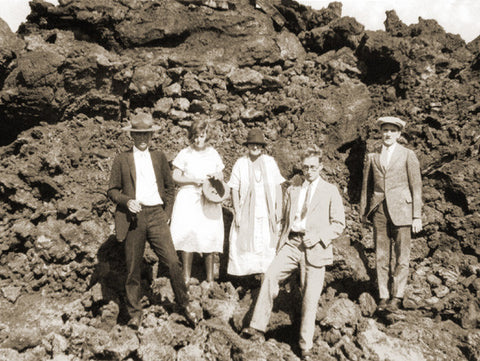 Picture Of 1920's Visitors To Volcano